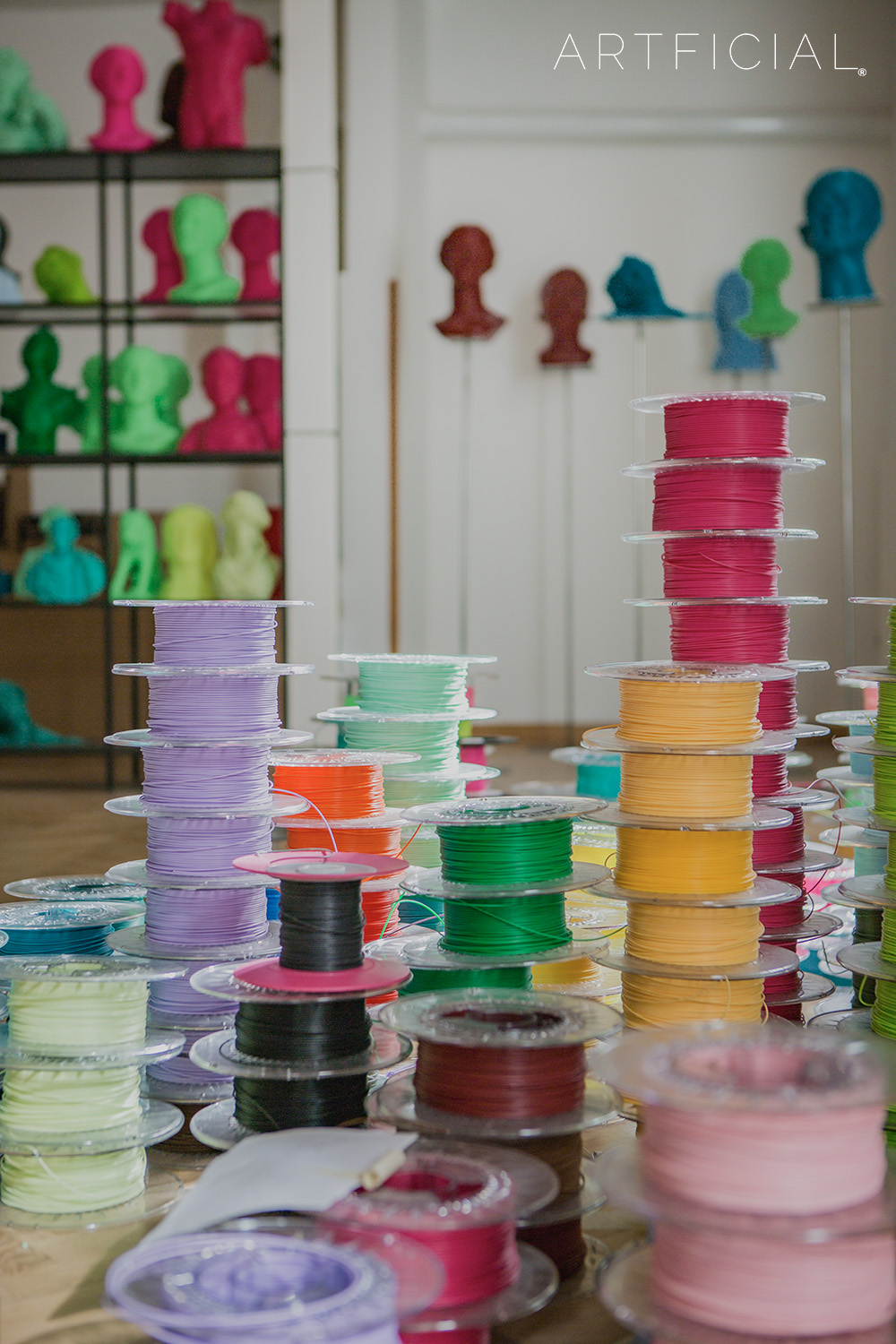 Colored Filaments and Artficial Clones inside the Factory of the Future