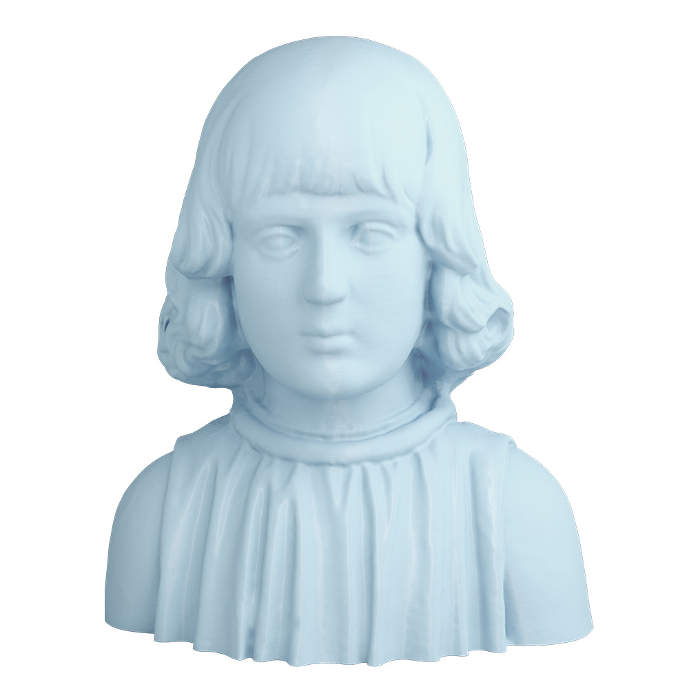 3D Printed Bust of Aragonese Child