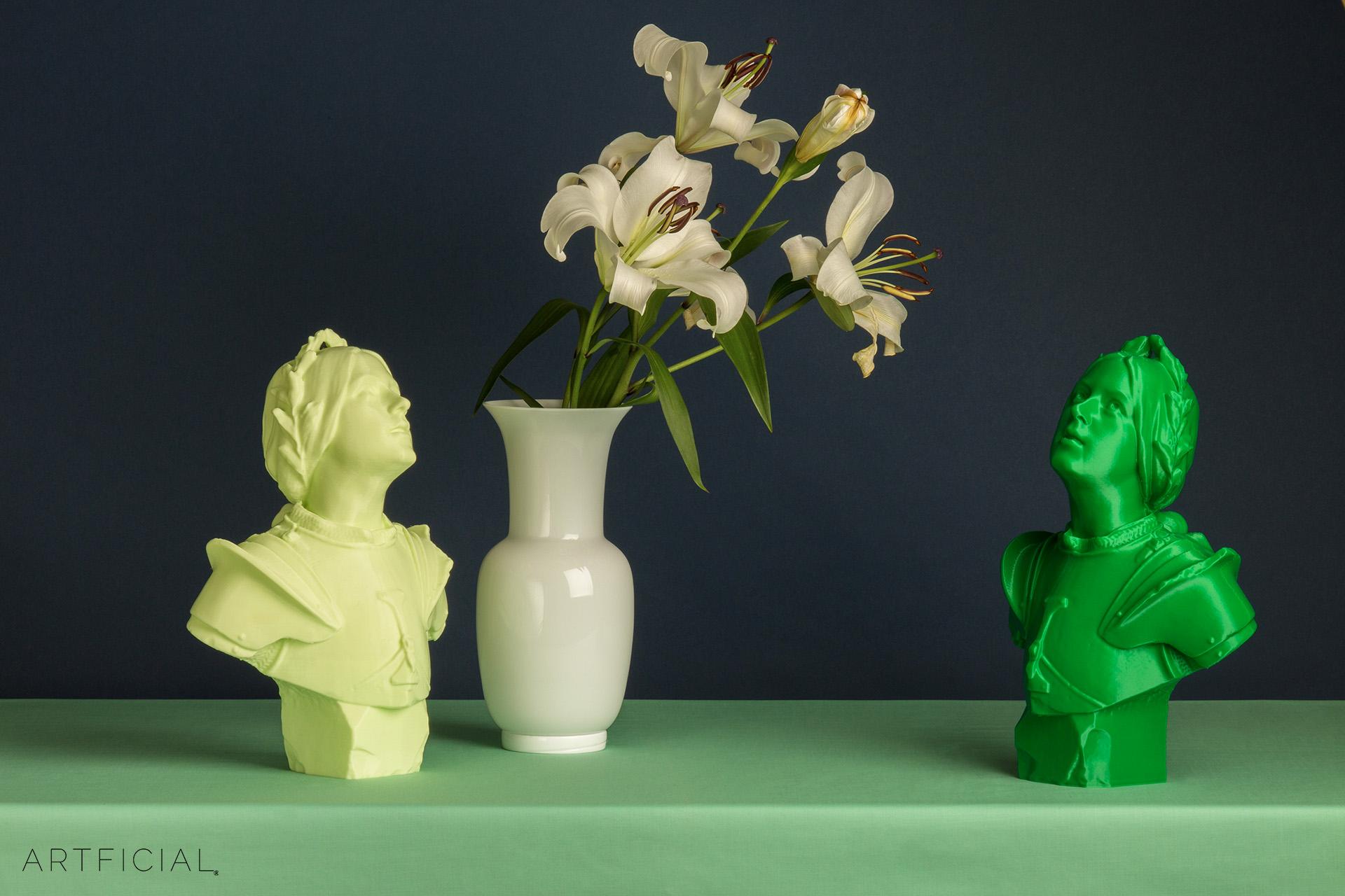Colors: Yellow Melon, Emerald Green, Artficial Clone_308, Joan of Arc Bust • Artficial Clone 308